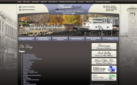 Screenshot of Site Map Page oldtacomadentist.com - Site Map - General and Cosmetic Dentist - captured Oct. 3, 2014