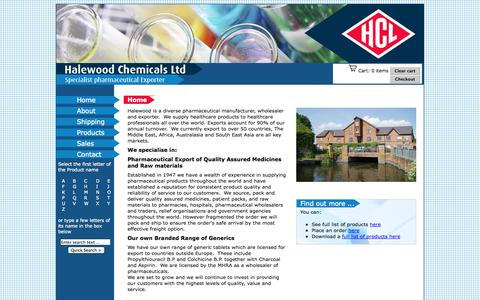 Screenshot of Home Page halewoodchemicals.com - Halewood Chemicals - Pharmaceuticals and generics - captured Sept. 27, 2014