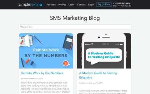 SimpleTexting Blog