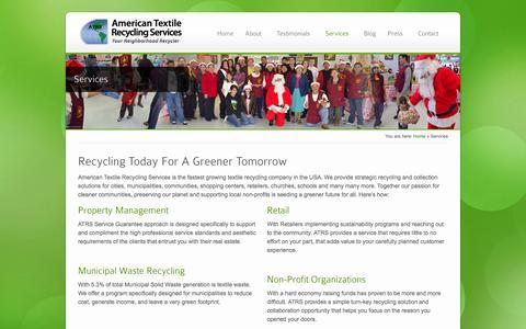 Screenshot of Services Page atrscorp.com - Services - ATRS - captured Oct. 4, 2014
