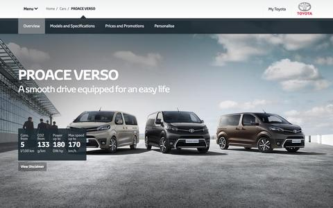Toyota PROACE VERSO Overview | The versatile people carrier.