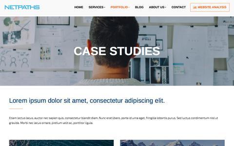 Screenshot of Case Studies Page netpaths.net - Case Studies of Successful Netpaths Web Development - captured June 12, 2017