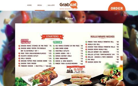 Screenshot of Menu Page grabeat.com - Grab Eat | Bangalore | Menu | Order Online - captured Dec. 6, 2015