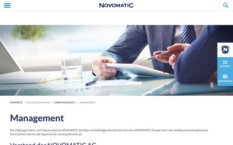 Screenshot of Team Page novomatic.com - Management - NOVOMATIC - captured May 29, 2018