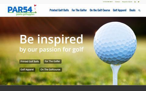 Screenshot of Home Page par54.eu - PAR54 Golf Logo Products   We Love Golf - captured July 16, 2015