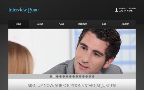 Screenshot of Home Page interviewguru.co.uk - Online interview training and resources   Interview Guru - captured June 17, 2015