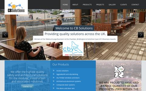 Screenshot of Home Page cbsol.co.uk - Aggredeck Anti-slip Decking, Access Solutions, Fire Doors and Joinery - captured Oct. 1, 2014
