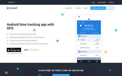 Android Time Tracker App | Hubstaff