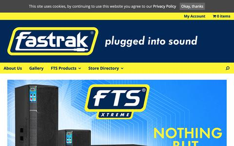 Screenshot of Home Page fastrak.co.za - Fastrak - plugged into sound - captured Oct. 10, 2018