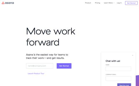 Screenshot of Home Page asana.com - Use Asana to track your team's work & manage projects · Asana - captured Nov. 13, 2017