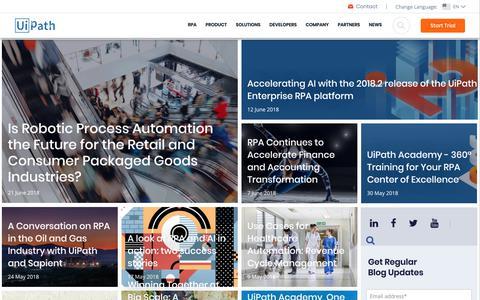 uipath com's Web Marketing Designs | Crayon
