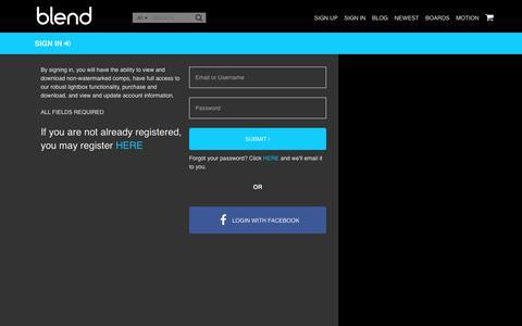 Screenshot of Login Page blendimages.com - BlendImages - captured June 1, 2017