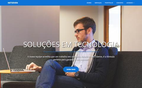 Screenshot of Home Page netseven.com.br - Netseven :: Soluções em Tecnologia - captured Feb. 14, 2016
