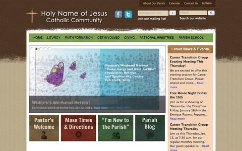 Screenshot of Home Page hnoj.org - Holy Name of Jesus Catholic Community | Wayzata, MN - captured Jan. 23, 2015