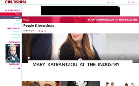 Screenshot of Team Page wearecollision.com - People & Interviews   WEARECOLLISION - captured Nov. 6, 2014