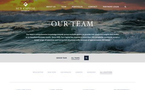 Screenshot of Team Page suncappart.com - Our Team | Sun Capital Partners - captured Nov. 8, 2018