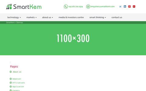 Screenshot of Site Map Page smartkem.com - Sitemap - SmartKem : SmartKem - captured July 3, 2016