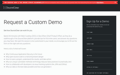 SourceClear: Join Us for a Custom Demo Session