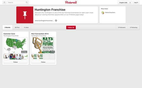 Screenshot of Pinterest Page pinterest.com - Huntington Franchise on Pinterest - captured Oct. 22, 2014