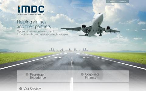 Screenshot of Home Page imdc.net - IMDC - captured Oct. 3, 2014