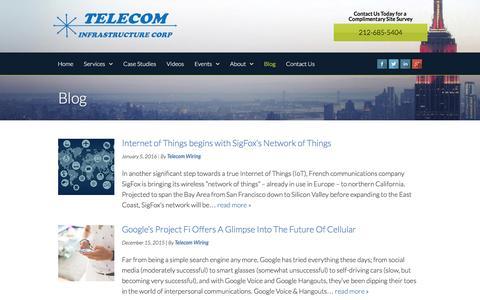 Screenshot of Blog telecom-wiring.com - Our Blog   Telecom Infrastructure Corp - captured Oct. 6, 2016