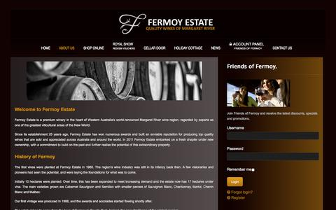 Screenshot of About Page fermoy.com.au - Fermoy Estate - captured Oct. 5, 2014