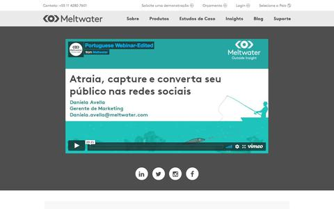 Screenshot of Landing Page meltwater.com - Video Thank You page - captured May 21, 2018