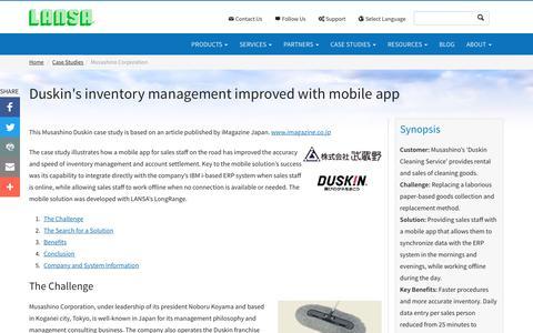 Screenshot of Case Studies Page lansa.com - Mobile App Improves Duskin's Inventory Management   LANSA - captured Oct. 21, 2016