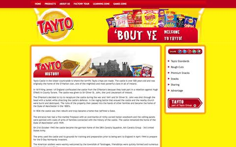 Screenshot of About Page tayto.com - History of Tayto - captured Oct. 7, 2014