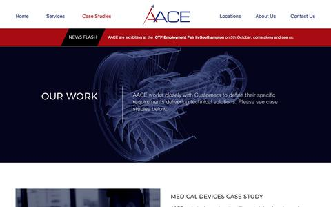 Screenshot of Case Studies Page aace.co.uk - Projects Archive - AACE - captured Oct. 7, 2017