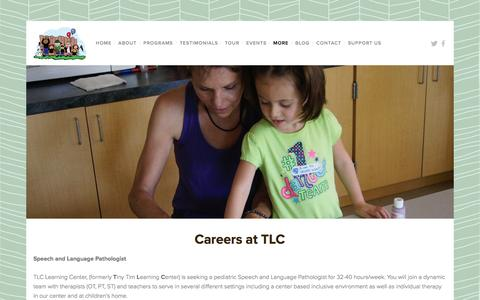 Screenshot of Jobs Page learningwithtlc.org - Careers at TLC — TLC Learning Center - captured Feb. 15, 2016