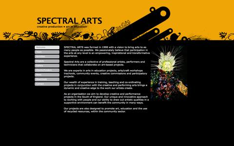 Screenshot of Home Page spectralarts.org - SPECTRAL ARTS - Welcome - captured Sept. 30, 2014