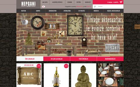 Screenshot of Home Page hepgani.com - HEPGANİ - Keyifli Yaşamın Adresi - captured Oct. 2, 2014