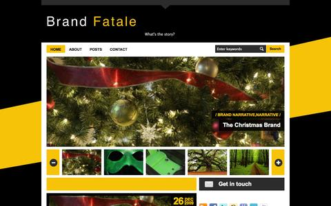 Screenshot of Home Page brandfatale.com - Brand Fatale • What's the story? Brand Fatale - captured Oct. 1, 2014
