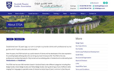 Screenshot of About Page stga.co.uk - About the Scottish Tourist Guides Association | STGA - captured Sept. 1, 2016