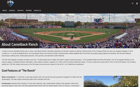Screenshot of About Page mlb.com - About | Camelback Ranch | MLB.com - captured Sept. 26, 2018