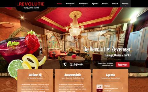 Screenshot of Home Page derevolutiezevenaar.nl - Home - De Revolutie Zevenaar : De Revolutie Zevenaar - captured June 19, 2015