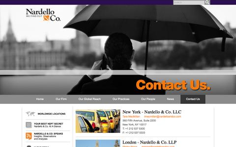 Contact Us - Nardello & Co. - Nardello & Co.