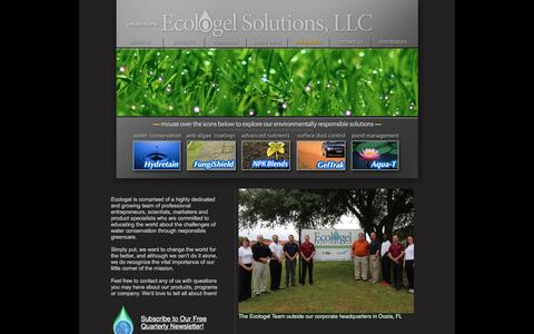 Screenshot of Team Page ecologel.com - Ecologel Solutions, LLC. Environmentally responsible solutions for water conservation, dust control, drought, liquid nutrients, algae control and pond maintenance. - captured Oct. 25, 2016