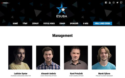 Screenshot of Team Page esuba.eu - Management | eSuba | esport team - captured Nov. 5, 2018