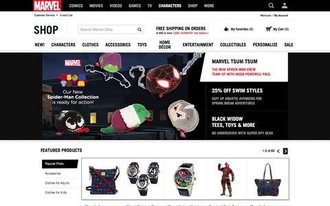 Marvel Shop | Official Site for Marvel Toys, Clothing & Merchandise