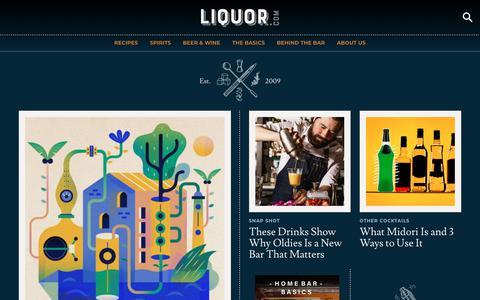 Screenshot of Home Page liquor.com - Liquor.com - Cocktail Recipes, Spirits, and Local Bars - captured Feb. 17, 2020