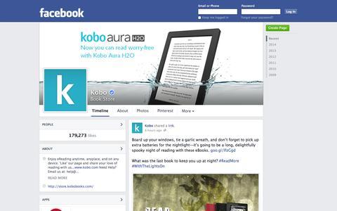 Screenshot of Facebook Page facebook.com - Kobo - Toronto, ON - Book Store | Facebook - captured Oct. 26, 2014