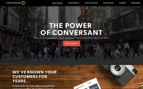 Power of Conversant | Personalized Digital Marketing | Conversant