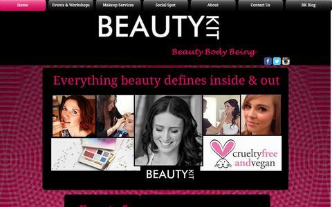 Screenshot of Home Page beautykitaustralia.com - Beauty Kit Australia - captured Sept. 30, 2014