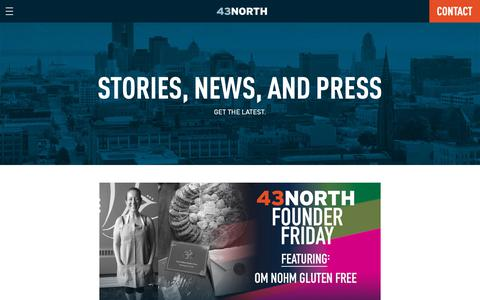 Screenshot of Press Page 43north.org - News – 43North - captured Nov. 9, 2018