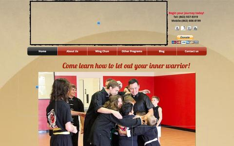 Screenshot of Home Page twistingtiger.com - Twisting Tiger Academy, Martial Arts, Kung Fu, Self Defense, Wing Chun - captured Oct. 7, 2014