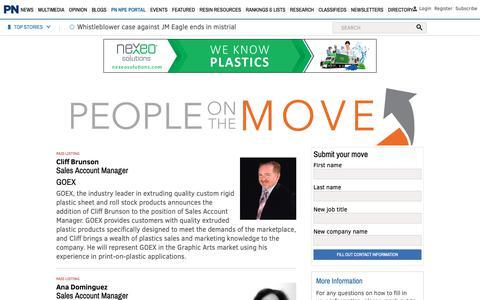 Screenshot of Team Page plasticsnews.com - Plastics News - captured Nov. 19, 2018