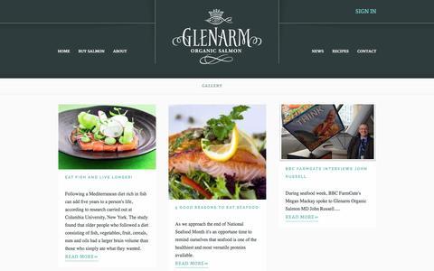 Screenshot of Press Page glenarmorganicsalmon.com - News Blog   Glenarm Organic Salmon - captured Jan. 29, 2016