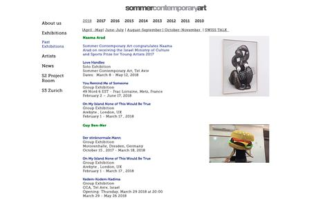 Screenshot of Press Page sommergallery.com - News December - February 2017 | Sommer Contemporary Art - captured Feb. 1, 2019